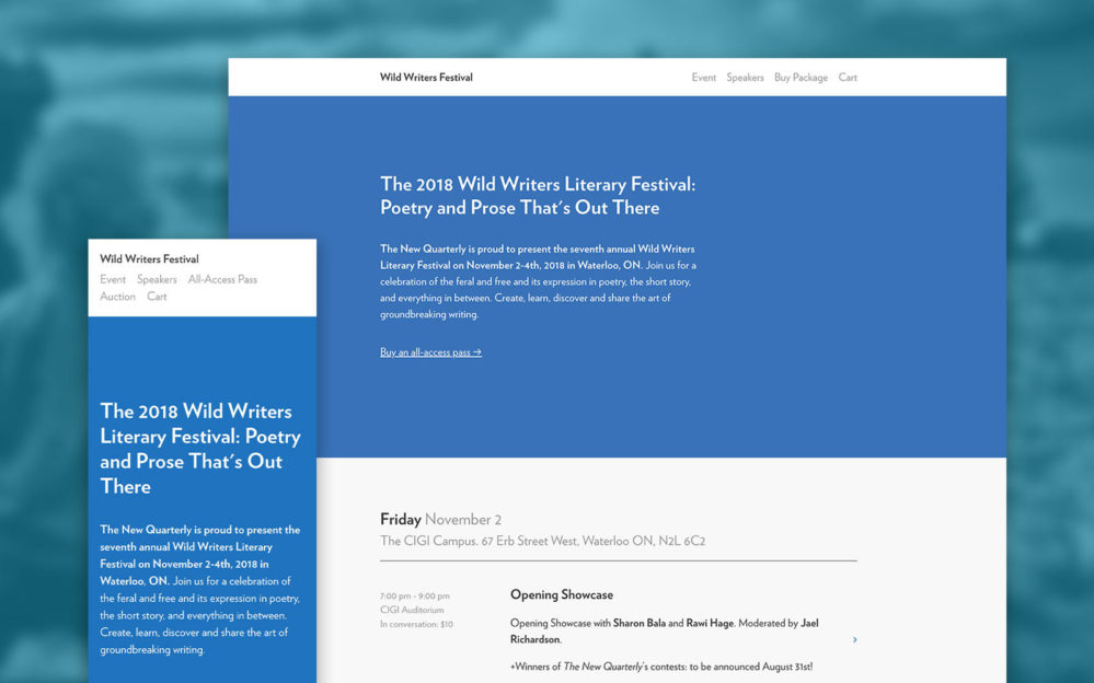 The Wild Writers website
